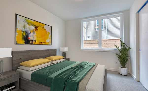 First Floor Bedroom at 14339C Stone Ave N in the Maya Townhomes
