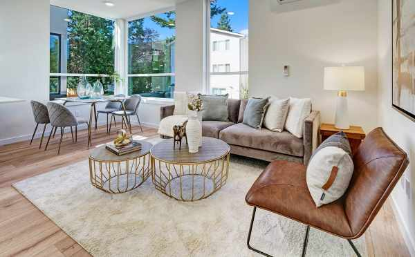 Living Room and Dining Area at 14339E Stone Ave N, One of the Maya Townhomes