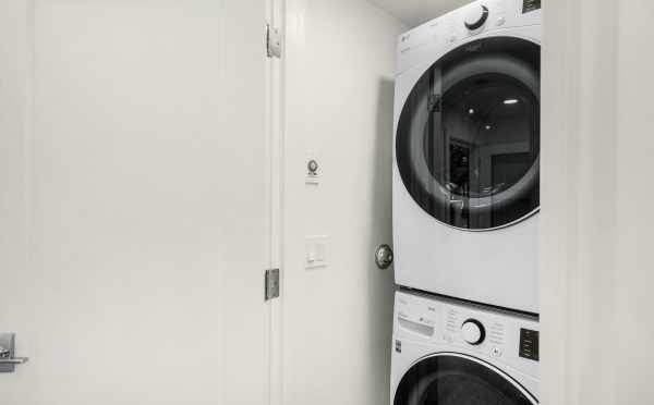 Laundry Area at 323 Malden Ave E, One of the Mika Townhomes by Isola Homes