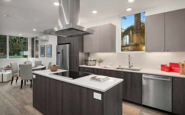 Kitchen of Unit 408A at Oncore Townhomes in Capitol Hill