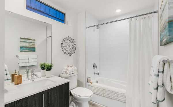 First-Floor Bathroom at 109A 22nd Ave E, One of the Thalia Townhomes