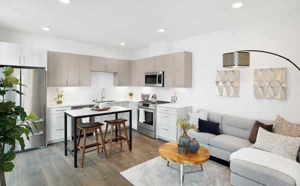 View of the Living Room and Kitchen in The Wyn Townhomes, 1113 E Howell