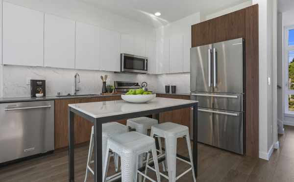 Kitchen at 1327 NW 85th St, One of the Thoren Townhomes in Crown Hill