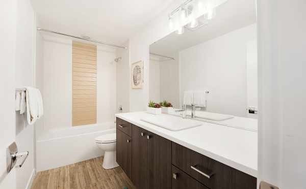 First Floor Bathroom in One of the Twin II Duplexes in East Queen Anne