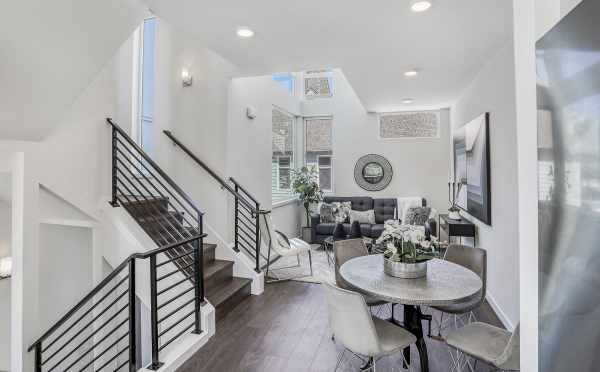 Dining Area and Living Room at 1724B 11th Ave, One of the Wyn on 11th Townhomes