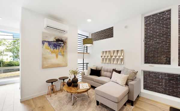 Living Room at 1121 E Howell Street