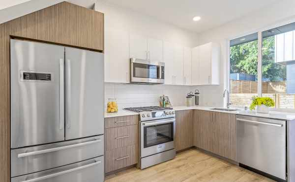 Kitchen in One of the Townhomes at Lifa East