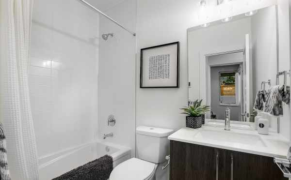 First Floor Bathroom at 201B 23rd Ave E at the 6 Central Townhomes
