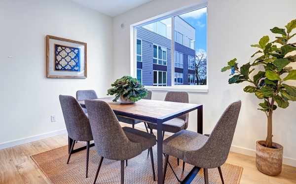 Dining Room at 1638E 20th Ave of the Avani Townhomes