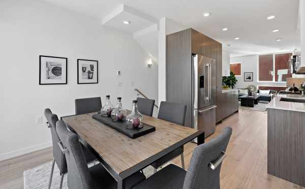 Dining Area and Kitchen at 212B 18th Ave