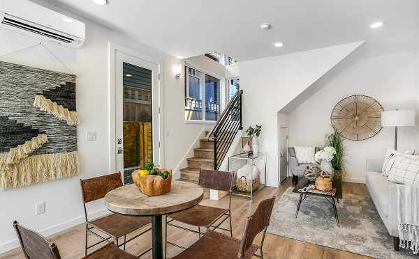 Dining Room and Living Area in One of the Core 6.1 Townhomes in Capitol Hill