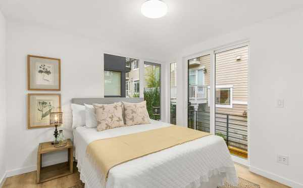 First Bedroom at 418F 10th Ave E in the Core 6.2 Townhomes in Capitol Hill