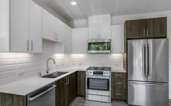 Kitchen at 1703 NW 62nd St at the Kai Townhomes in Ballard