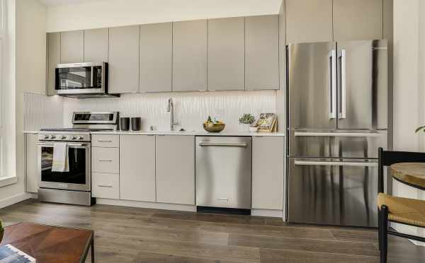 Kitchen at 8364 14th Ave NW, One of the Thoren Townhomes