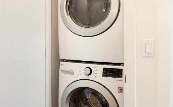Stackable Washer and Dryer at 5111f Ravenna Ave NE
