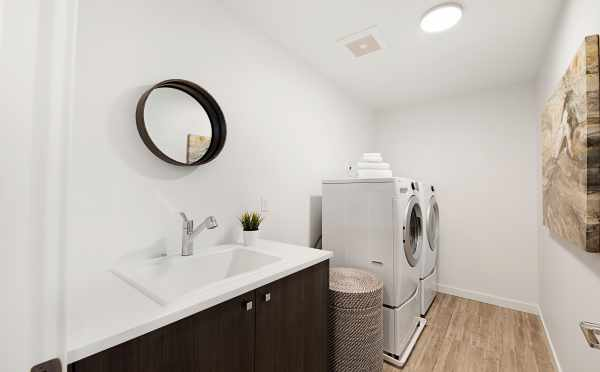Twin II Duplex Laundry Room Located at 2135 Dexter Ave N