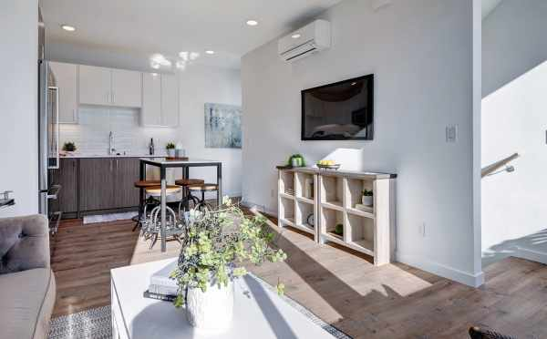 View from the Living Room to the Kitchen at 437D NE 73rd Street