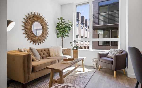 Living Room at 6317C 9th Ave NE