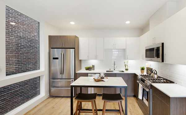 Kitchen and Dining Area in One of The Wyn Townhomes