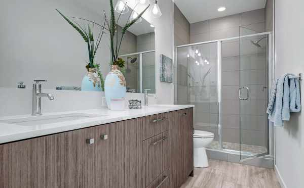 Master Bathroom at 1539B 14th Ave S, One of the Hawk's Nest Townhomes