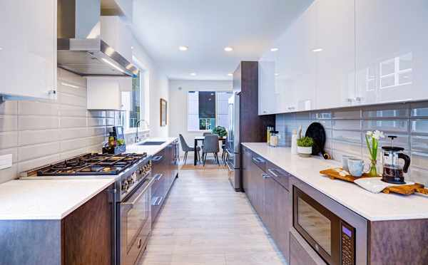 Kitchen and Dining Room in One of the Avani Townhomes