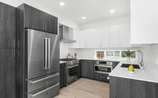 Kitchen at 2430 Boyer Ave E, One of the Baymont Townhomes by Isola Homes