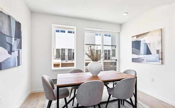 Dining Area at 224 18th Ave in the Jade Rowhomes of the Cabochon Collection