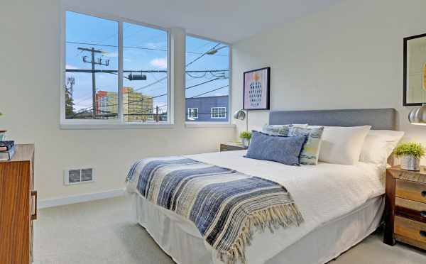 Second Bedroom at 503B NE 72nd Street of the Emory Townhomes