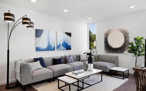 Living Room in One of the Isla Townhomes at 3062E SW Avalon Way