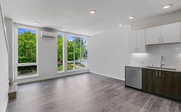 View from the Kitchen to the Living Room at One of the Kai Townhomes