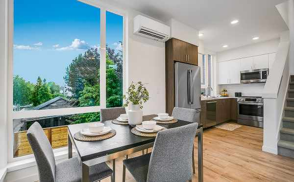 Dining Room and Kitchen at 6111 17th Ave NW