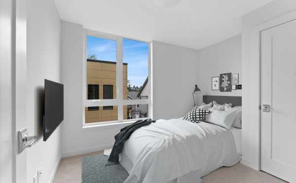 First Bedroom at 3015C 30th Ave W, One of the Lochlan Townhomes in Magnolia