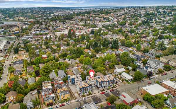Aerial View of the Lucca Townhomes Looking West