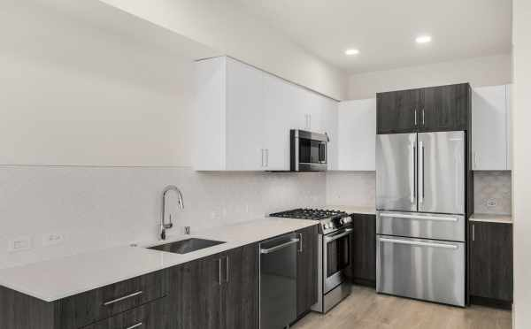 Kitchen at 323 Malden Ave E, One of the Mika Townhomes in Capitol Hill