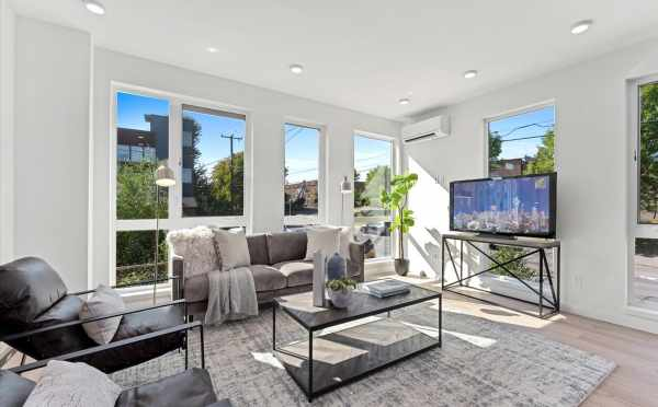 Living Room at 6421 14th Ave NW, One of the Oleana Townhomes