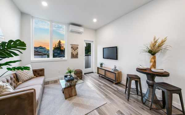 Living Room at 8509B 16th Ave NW, One of the Ryden Townhomes