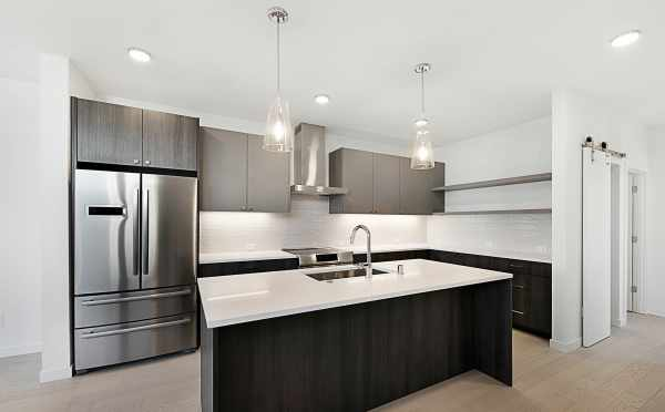 Stainless Steel Appliances in the Kitchen of One of the Twin I Townhomes in East Queen Anne