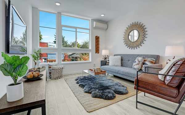 Living Room at 3549 Wallingford Ave N, One of the Lucca Townhomes in Wallingford