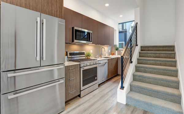 Kitchen at 8505 16th Ave NW, One of the Alina Townhomes in Crown Hill