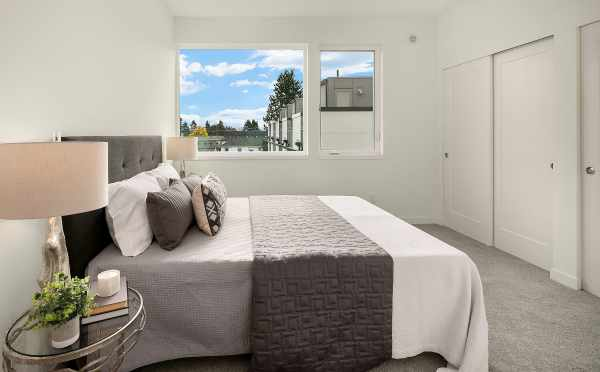 Master Bedroom in One of the Avani Townhomes in Capitol Hill