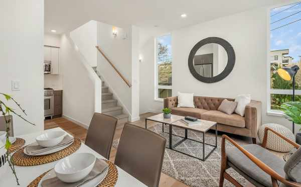 View from the Dining Area to the Living Room at 6539F 4th Ave NE