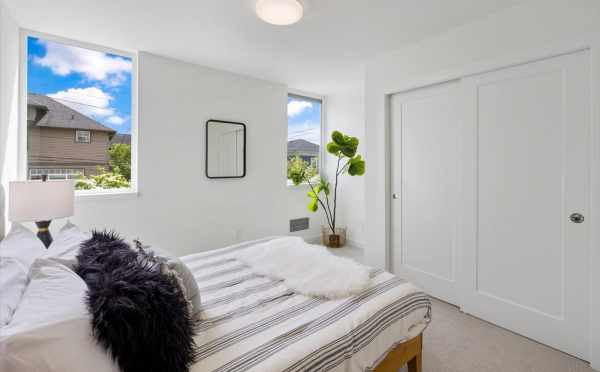 First Bedroom at 1812 E Spruce St, One of the Opal Rowhomes in the Cabochon Collection by Isola Homes