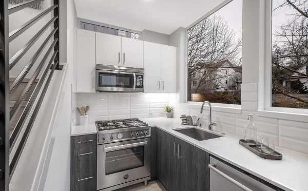Kitchen at 1113F 14th Ave, One of the Corazon North Townhomes