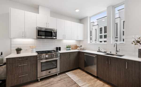 Kitchen at 1105F 14th Ave, in Corazon Central