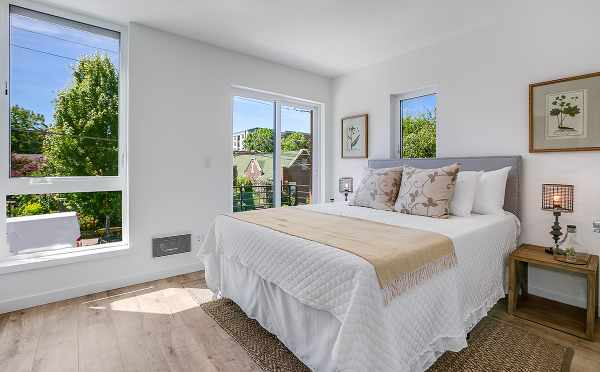 Second Bedroom at 422F 10th Ave E, of the Core 6.1 Townhomes by Isola Homes