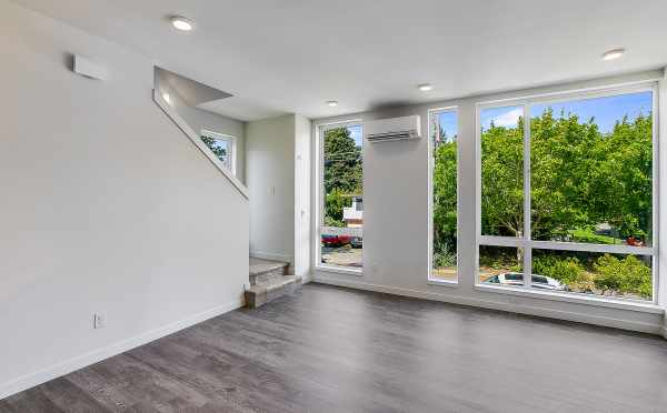 Living Room at 1703 NW 62nd St in the Kai Townhomes in Ballard
