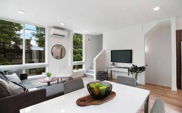 View from the Dining Area to the Living Area at 5111F Ravenna Ave NE