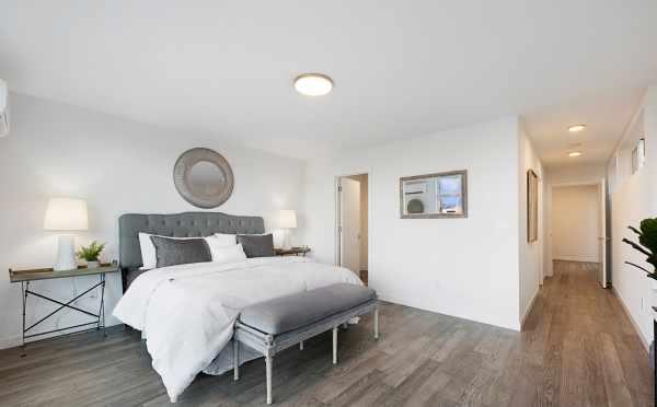 Twin II Duplex Master Bedroom with Walk-In Closet