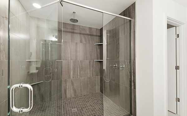 Shower in the Master Bath of One of the Twin II Townhomes
