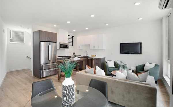 View from the Dining Room to the Living Room and Kitchen at 445 NE 73rd St